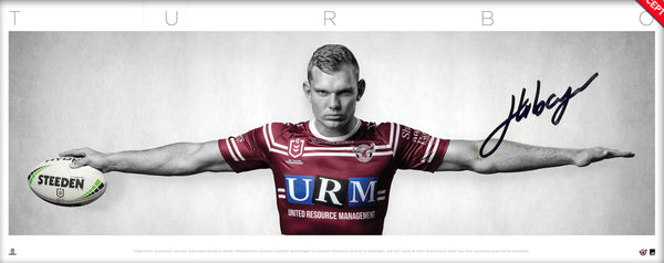 Tom Trbojevic Signed 'TURBO' Manly Sea Eagles UNFRAMED