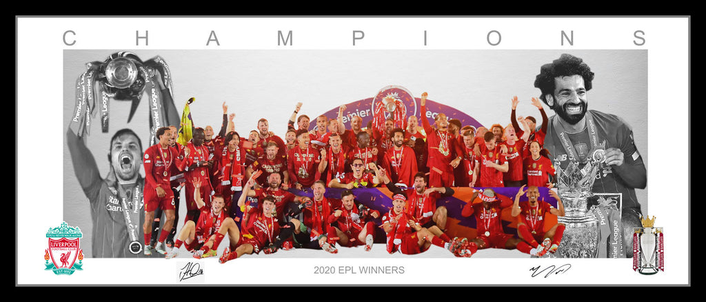 Liverpool FC 2020 EPL Champions Framed Wings Style Tribute
