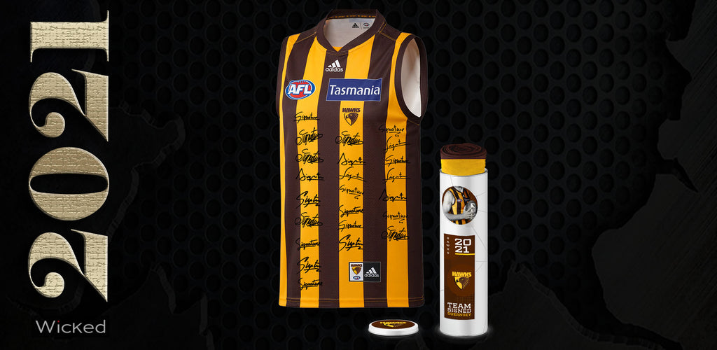 Hawthorn Football Club 2021 Squad Signed Guernsey