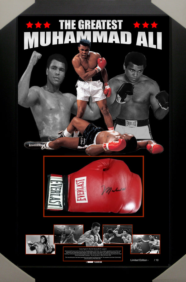 Muhammad ALI Signed & Framed Boxing Glove Limited Edition with James Spence Authentication
