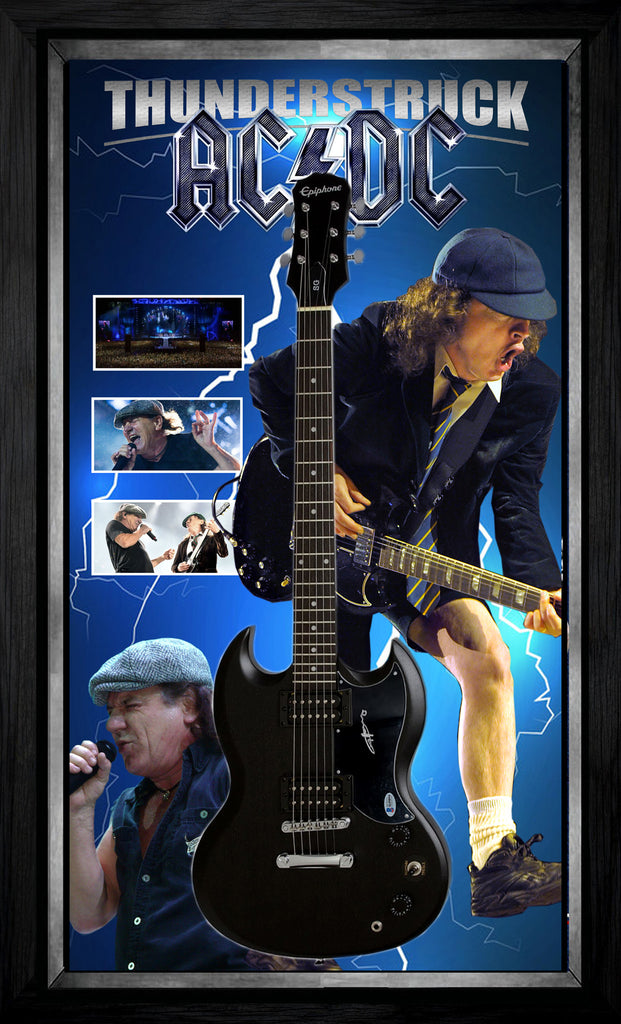 ACDC THUNDERSTRUCK – Angus Young SIGNED & FRAMED SG ELECTRIC GUITAR BECKETT AUTHENTICATED