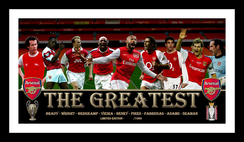 The Greatest ARSENAL GUNNERS Framed Limited Edition