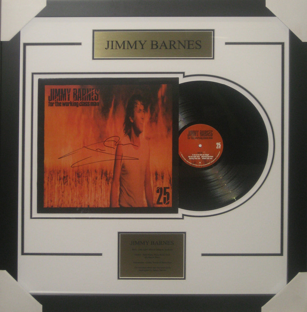 JIMMY BARNES SIGNED & FRAMED WORKING CLASS MAN LIMITED EDITION 25TH ANNIVERSARY ALBUM