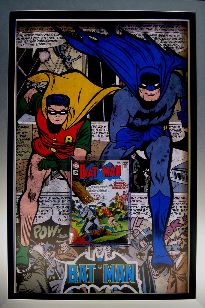Batman & Robin Comic Case feat a vintage Silver Age Comic Book