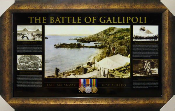 Battle of Gallipoli ANZACS Framed Official Limited Edition Lithograph