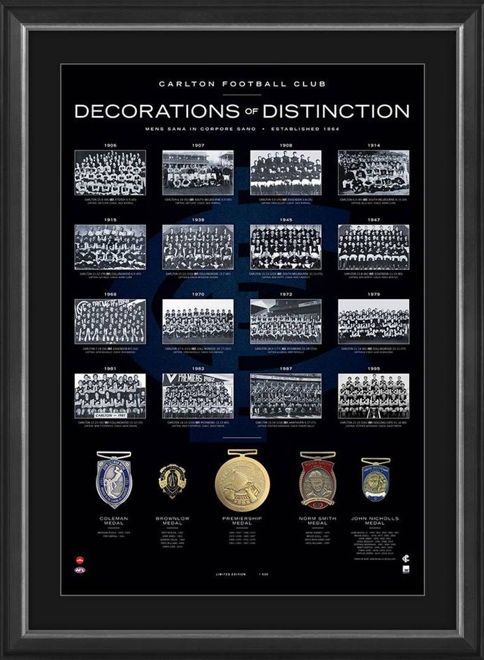 Carlton Football Club Decorations of Distinction AFL Limited Edition
