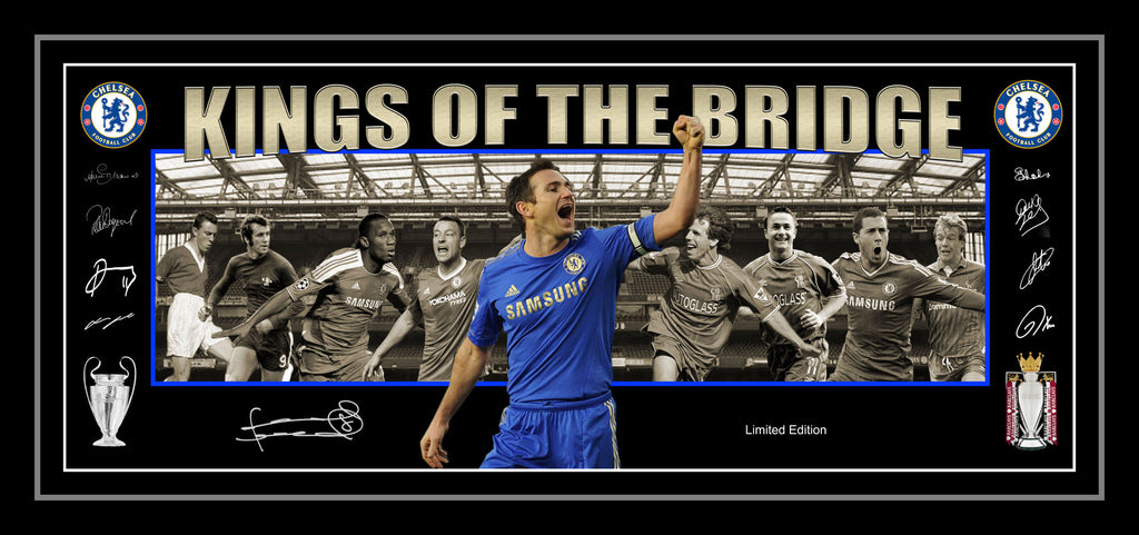 'Kings of the Bridge' Chelsea FC Limited Edition Lithograph Framed
