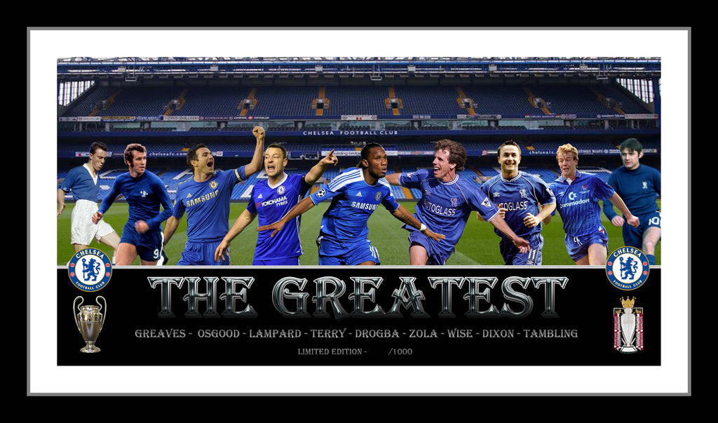 The Greatest CHELSEA FC Framed Limited Edition