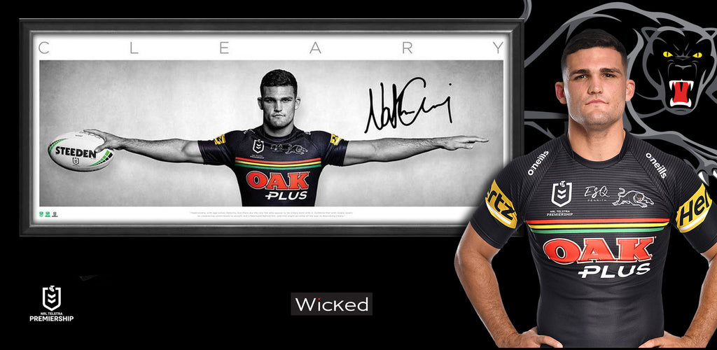 Nathan Cleary Penrith Panthers Signed Wings
