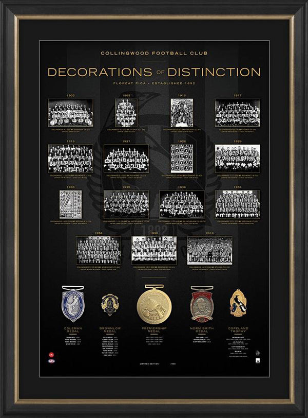 Collingwood Magpies Decorations of Distinction AFL Limited Edition