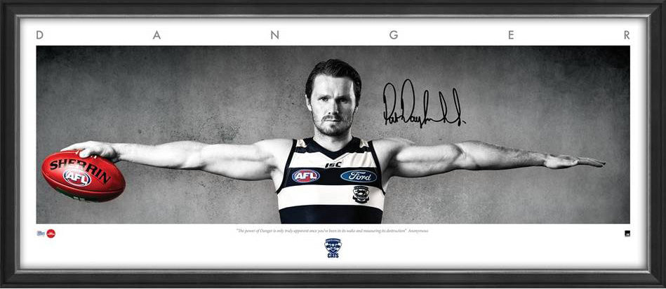 Patrick Dangerfield Signed & Framed Wings tribute