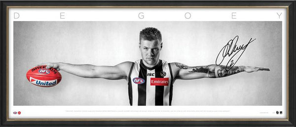 Jordan De Goey Signed & Framed Wings