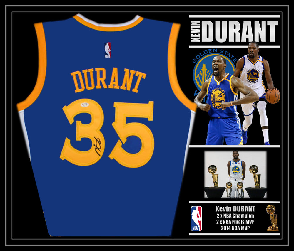 Kevin DURANT Golden State Warriors Signed & Framed Jersey with Beckett Authentication