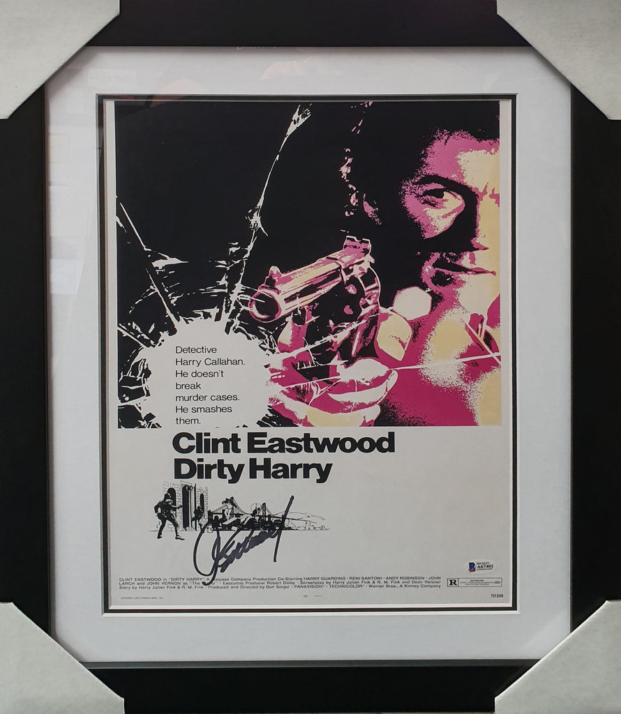 Clint EASTWOOD Dirty Harry Signed & Framed - Beckett Authenticated