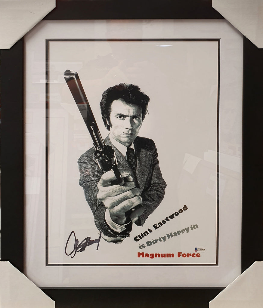 Clint EASTWOOD Magnum Force Signed & Framed - Beckett Authenticated