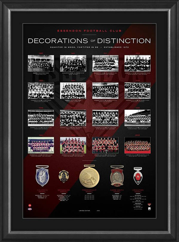 Essendon Bombers Decorations of Distinction AFL Limited Edition