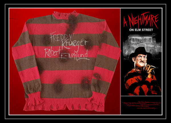 Freddy Krueger Official Nightmare on Elm Street Robert Englund Hand signed & Framed Jumper