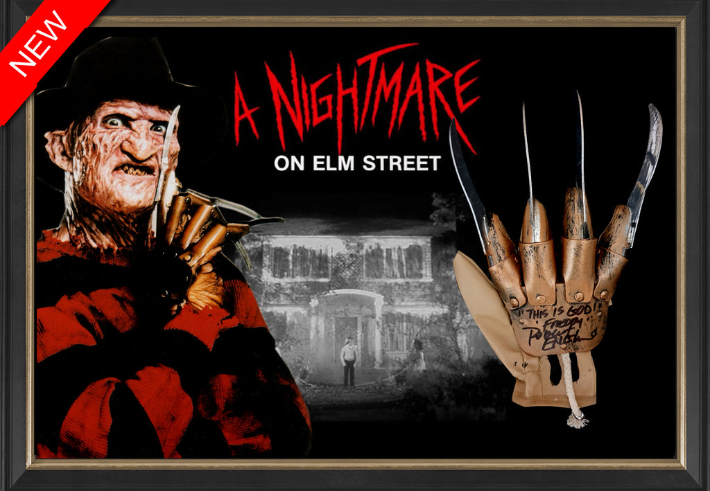 NIGHTMARE ON ELM STREET FREDDY KRUEGER Robert Englund Signed & Framed Replica Claw - Beckett Authenticated