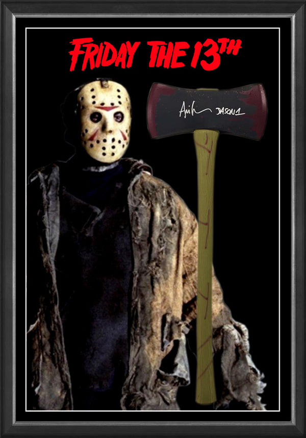 Jason 'Friday the 13th' Ari Lehman Signed & Framed AXE Movie Prop with Beckett USA authentication !!!!