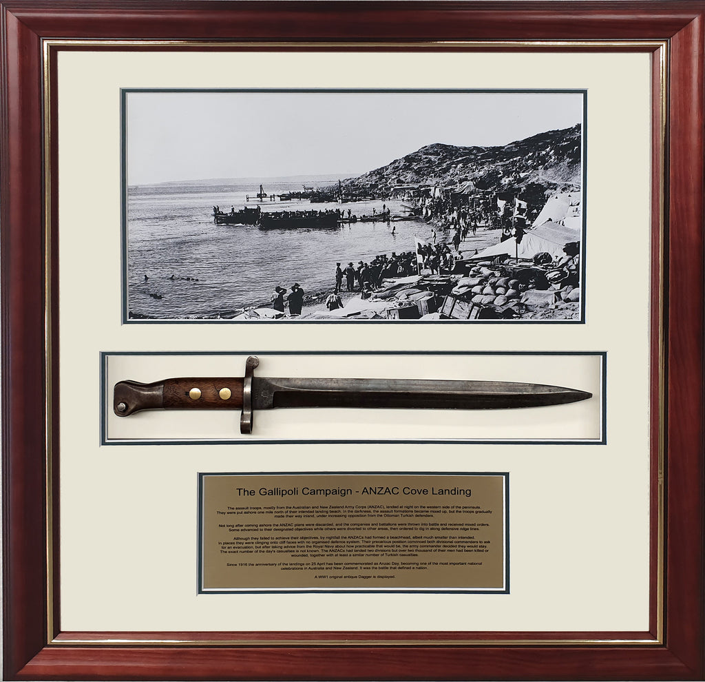GALLIPOLI ANZAC Antique WW1 Dagger