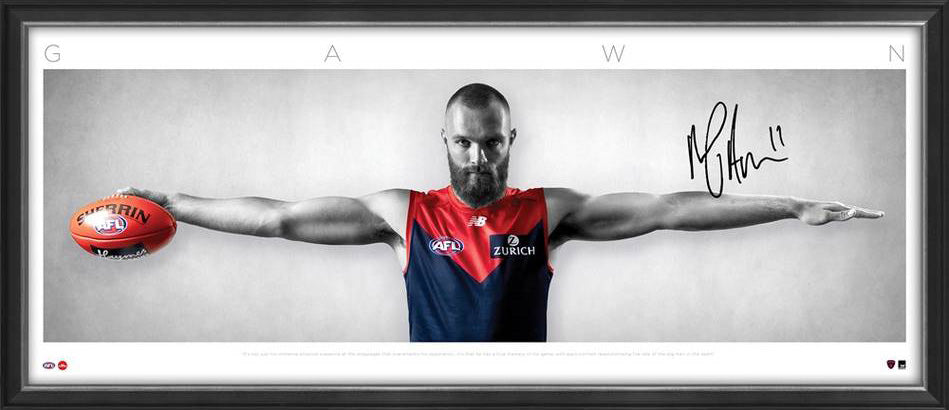 Max Gawn Signed Melbourne Signed & Framed Wings Tribute