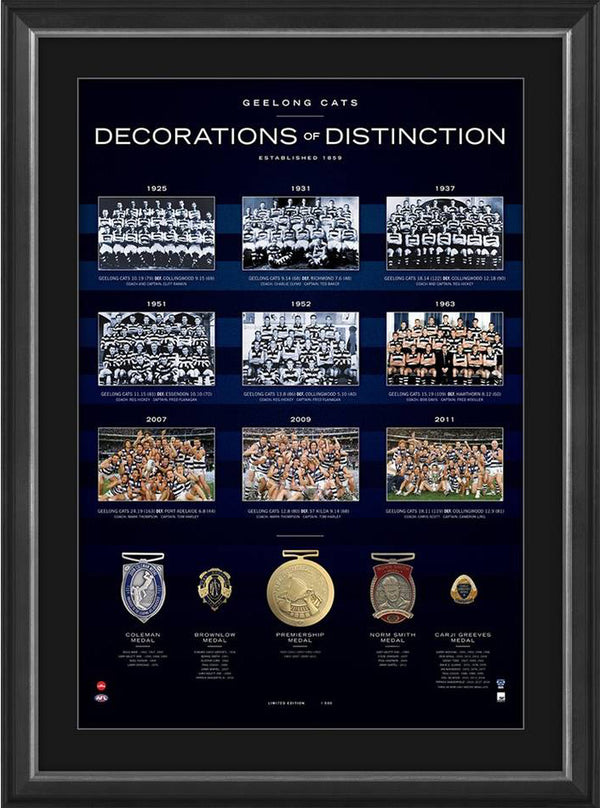 Geelong Cats Decorations of Distinction AFL Limited Edition