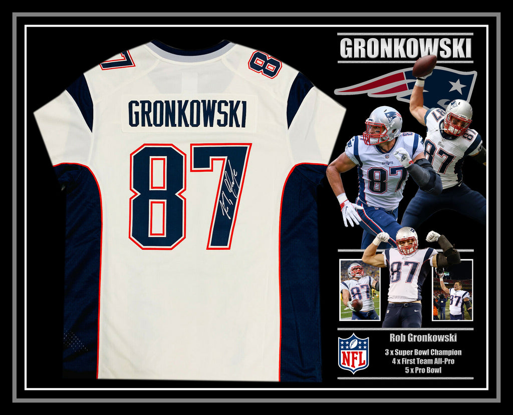 Rob Gronkowski New England Patriots Signed & Framed Jersey with Beckett Authentication
