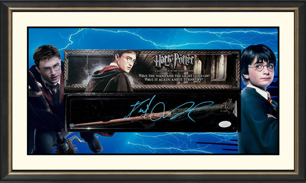 Harry Potter Danie Radcliffe Signed & Framed OFFICIAL Wand - James Spence Authenticated