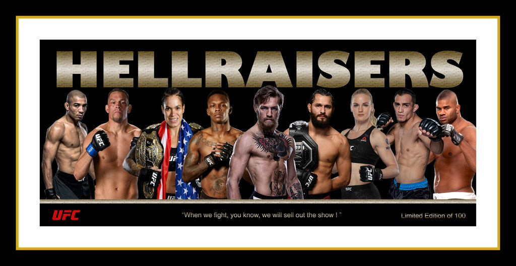 Hellraisers UFC Framed Limited Edition Tribute