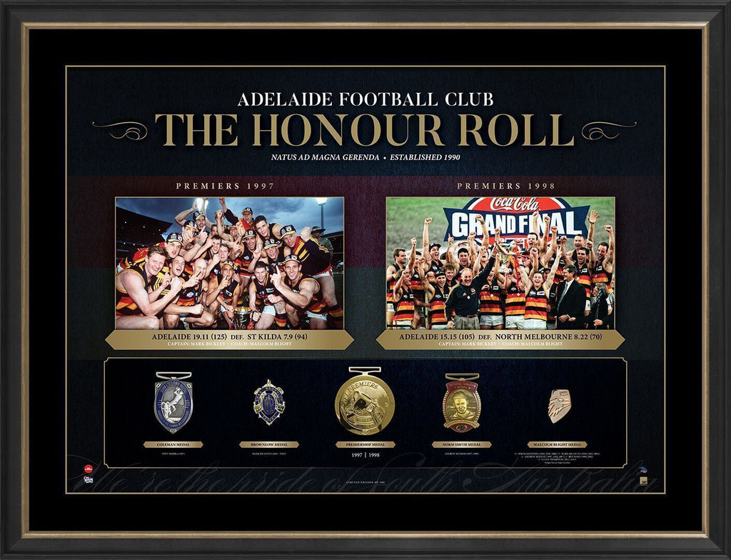 Adelaide Crows The Honour Roll AFL Limited Edition