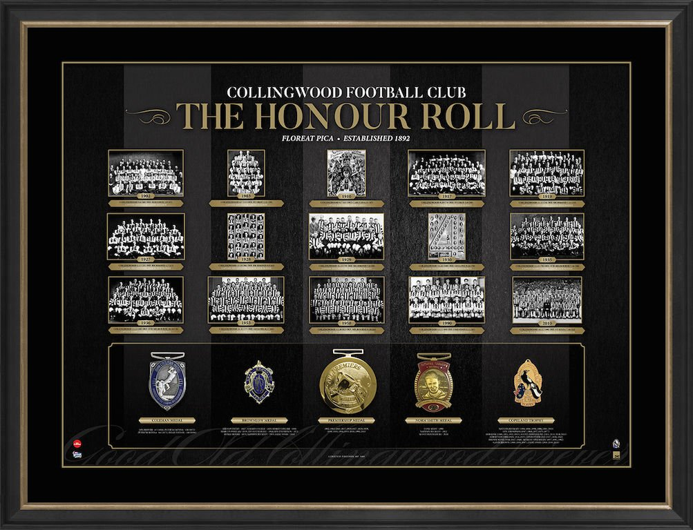 Collingwood Magpies The Honour Roll AFL Limited Edition