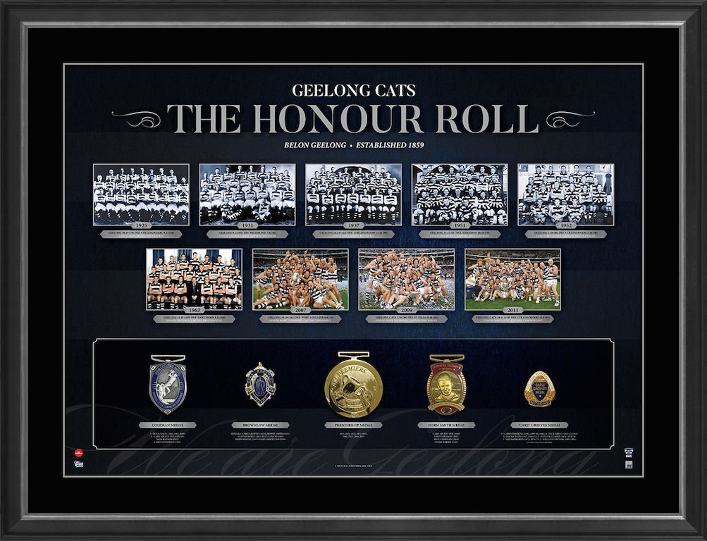 Geelong Cats The Honour Roll Framed Limited Edition