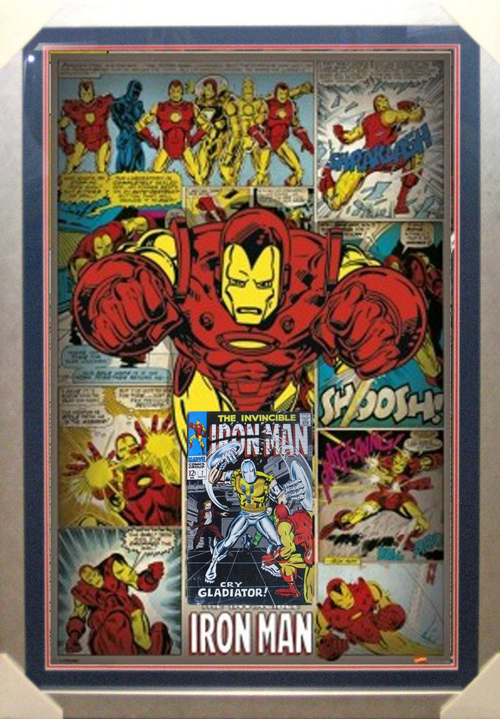 Iron Man Comic Case feat a silver age Comic Book