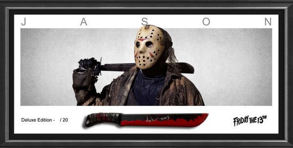 "ARI LEHMAN signed & framed Friday the 13th ""JASON"" Limited Edition Machete ~ with Beckett USA Authentication"