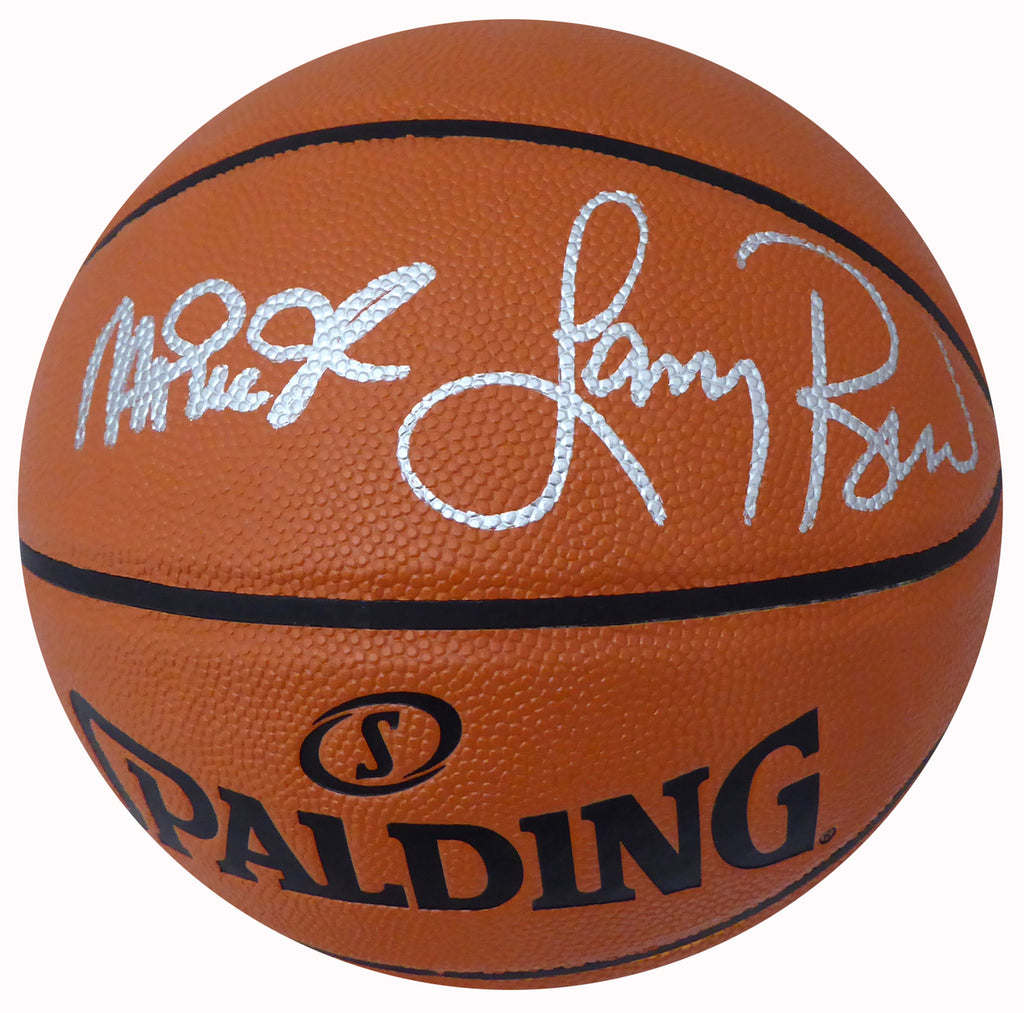 Larry Bird & Magic Johnson Dual Signed Spalding FULL size Basketball with Beckett USA Aucthentication