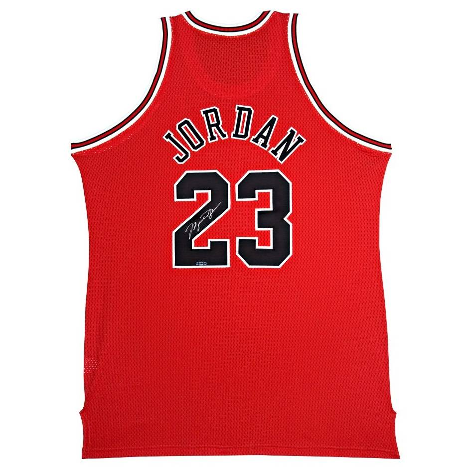 Michael Jordan Signed Chicago Bulls Rookie Jersey with Upperdeck Authentication