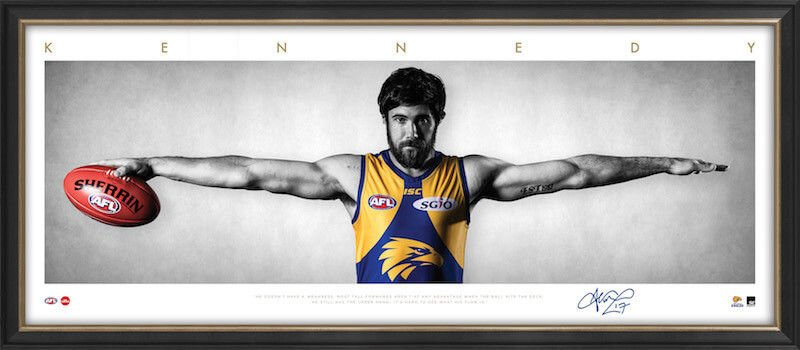 Josh Kennedy AFL West Coast Eagles Framed Wings Tribute