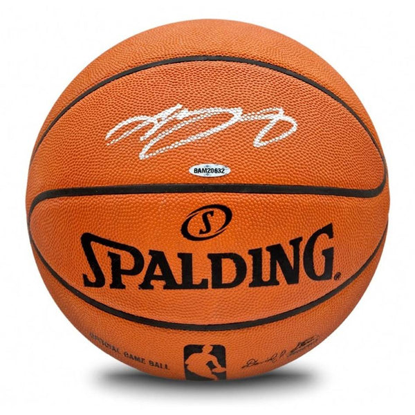 LeBron James Signed Spalding Basketball with Upperdeck Authentication