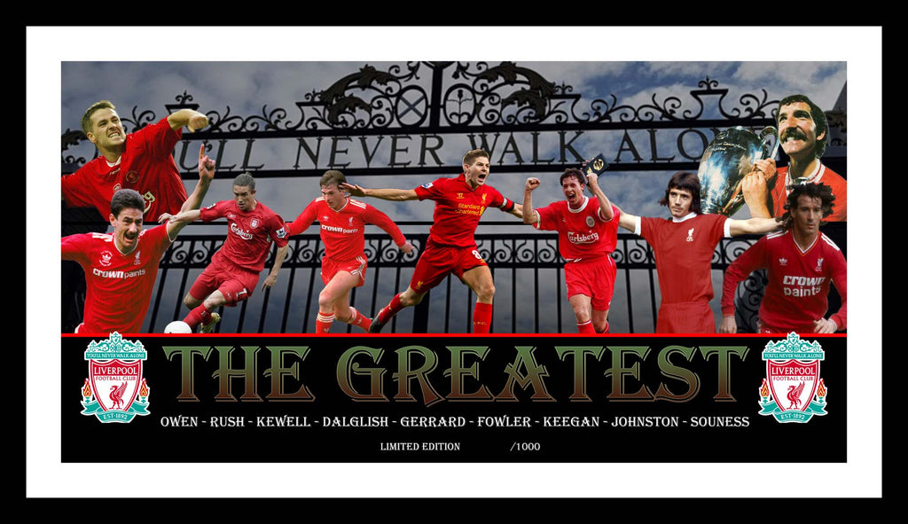 The Greatest LIVERPOOL FC Framed Limited Edition