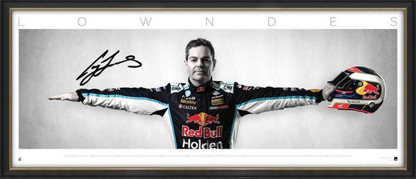 Craig Lowndes Signed 'Wings' Framed