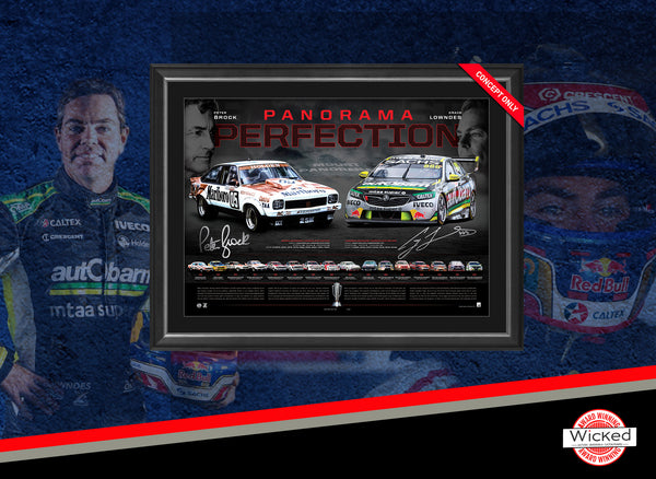 2018 'Panorama Perfection' - Craig Lowndes & Peter Brock - Framed Limited Edition Lithograph Edition #05