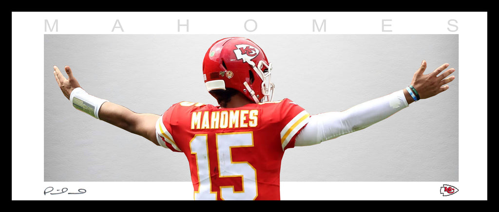 Patrick MAHOMES Kansas City Chiefs Wings Framed Tribute