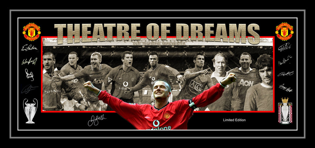 'Theatre of Dreams' Manchester United Limited Edition Lithograph Framed