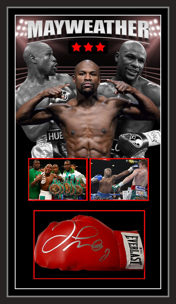 Floyd Mayweather Jnr Signed & Framed Boxing Glove with Beckett Authentication