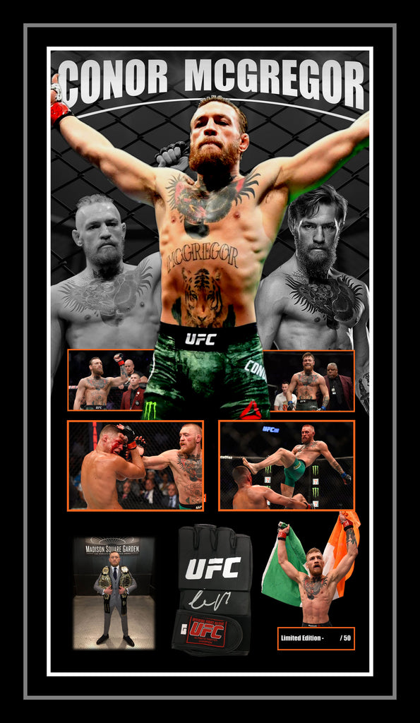 Conor McGregor Signed & Framed Official UFC Glove with Beckett USA Authentication.
