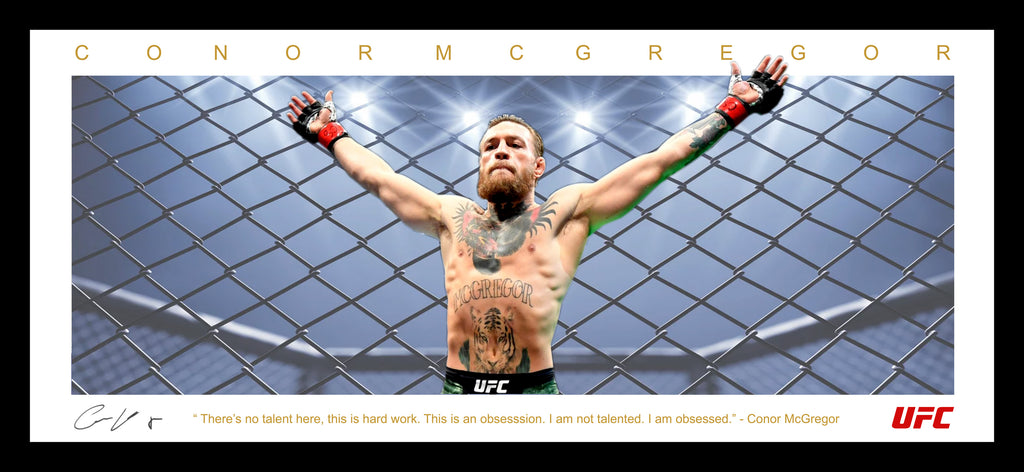 Conor McGregor UFC Wings Tribute Framed