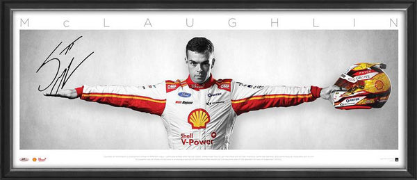 Scott McLaughlin Signed 'Wings' Framed