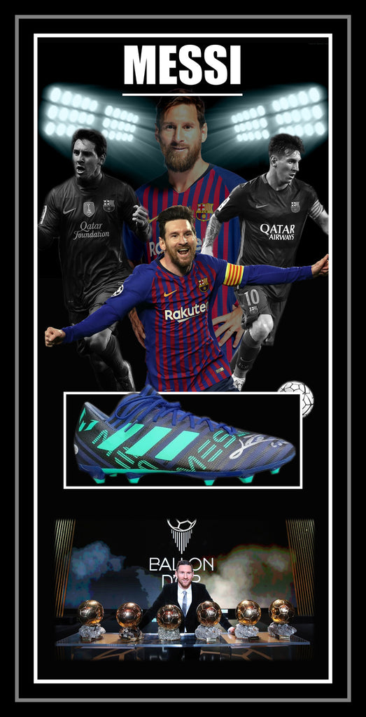 Lionel Messi Barcelona Signed & Framed Football Boot - Beckett Authentication