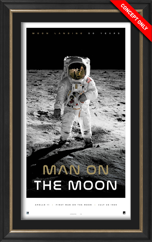 'Man on the Moon' Icon Series Framed