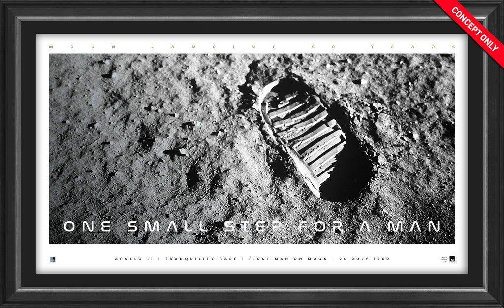 'One Small Step for a Man' Icon Series Framed